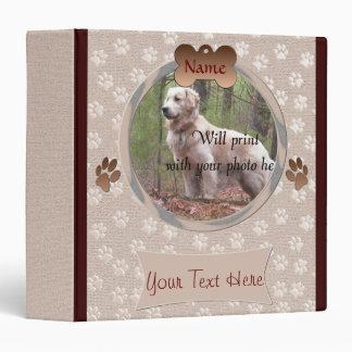 Dog Loss - Dog Memorial Paw Prints (beige) Binder