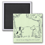 Dog Love 2 Inch Square Magnet