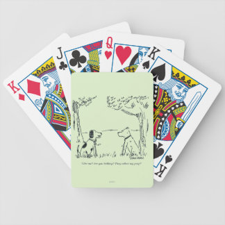 Dog Love Bicycle Playing Cards