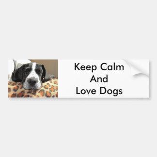 Dog love bumper sticker