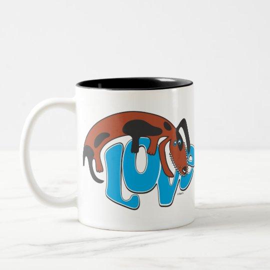 Dog Love Collection Two-Tone Coffee Mug