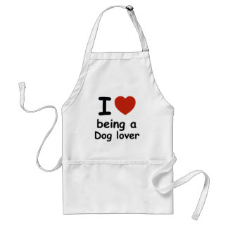 dog love design adult apron