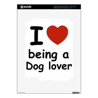 dog love design decal for iPad 3