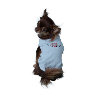 Dog Love Heart and Pawprints T-Shirt