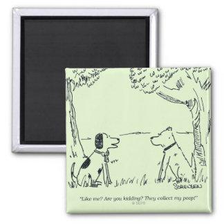 Dog Love 2 Inch Square Magnet