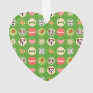 Dog Love on Green