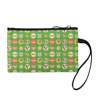 Dog Love on Green Coin Wallet