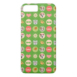 Dog Love on Green iPhone 8 Plus/7 Plus Case