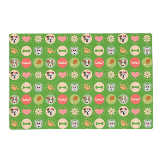 Dog Love on Green Placemat