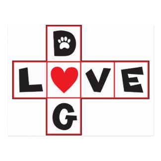 Dog Love Postcard