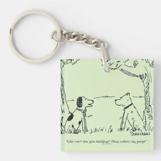 Dog Love Square Acrylic Keychains