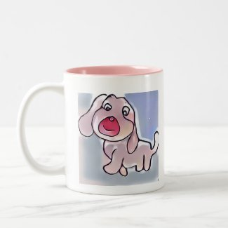 Dog Love Two-Tone Coffee Mug