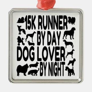 Dog Lover 15K Runner Metal Ornament