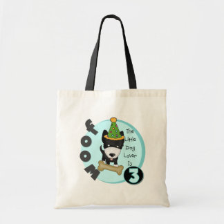 Dog Lover 3rd Birthday T-shirts and Gifts Tote Bag