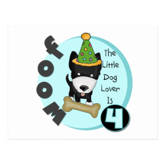 Dog Lover 4th Birthday T-shirts and Gifts Postcard