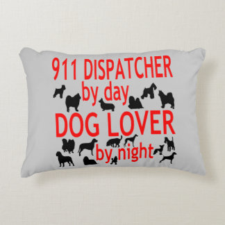 Dog Lover 911 Dispatcher Decorative Pillow