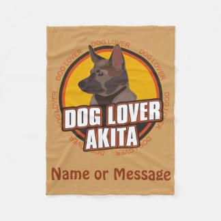 Dog Lover Akita Blanket Custom Name / Message