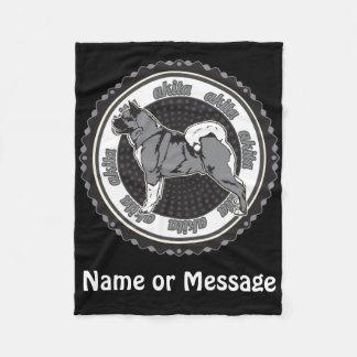 Dog Lover Akita Custom Name / Message Fleece Blanket