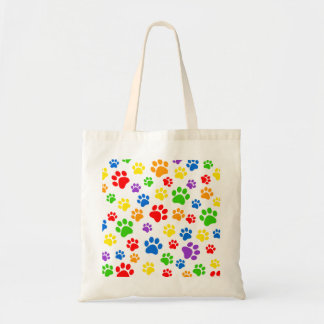 Dog lover bag with paw prints