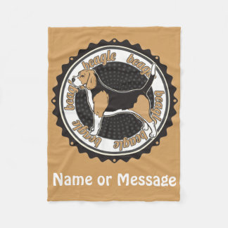 Dog Lover Beagle Blanket Custom Name