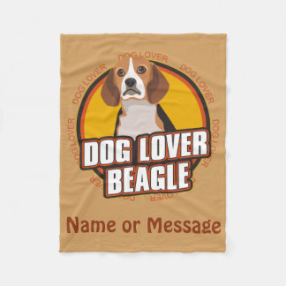Dog Lover Beagle Blanket Customize Name / Message