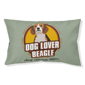 Dog Lover Beagle Personalized Name Pet Bed