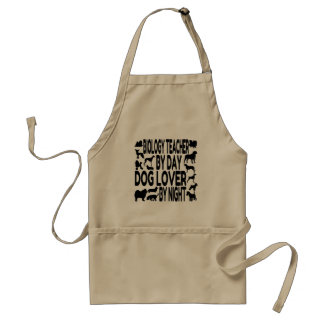 Dog Lover Biology Teacher Adult Apron