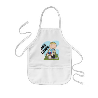 Dog Lover Blond Boy T shirts and Gifts Kids' Apron