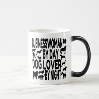 Dog Lover Businesswoman Magic Mug