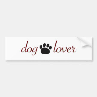 Dog Lover Car Bumper Sticker