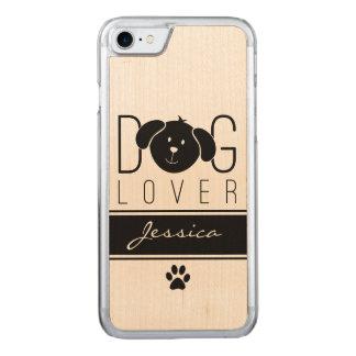 """Dog Lover"" Carved iPhone 7 Case"