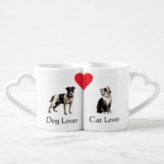 Dog Lover Cat Lover Heart Mugs