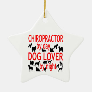 Dog Lover Chiropractor Christmas Tree Ornaments