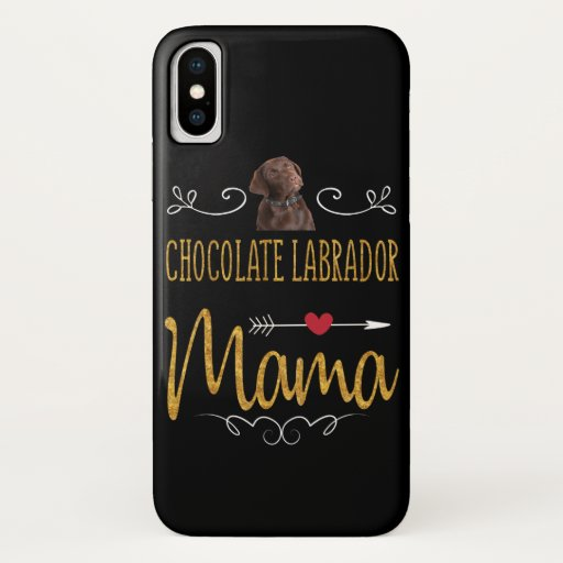 Dog Lover | Chocolate Labrador Mama iPhone XS Case