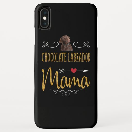 Dog Lover | Chocolate Labrador Mama iPhone XS Max Case