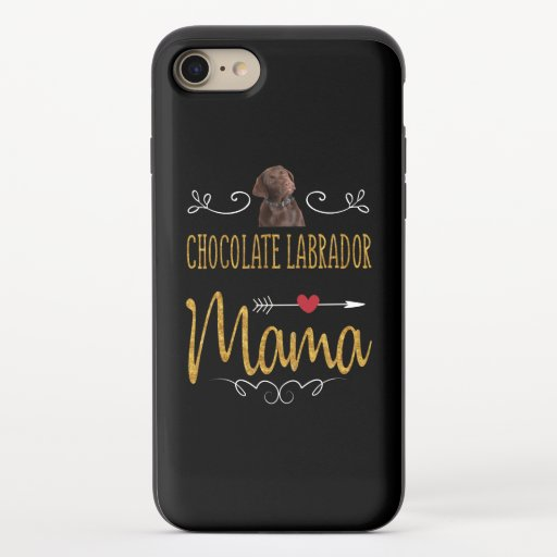Dog Lover | Chocolate Labrador Mama iPhone 8/7 Slider Case