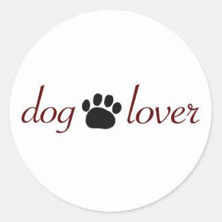 Dog Lover Classic Round Sticker