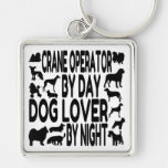 Dog Lover Crane Operator Keychain