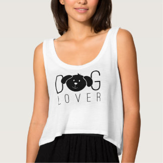 """Dog Lover"" Cropped Tank Top"