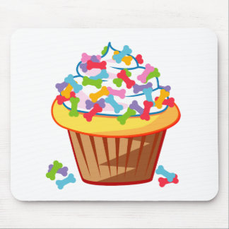 Dog Lover – Cupcake with Dog Bones Mousepads