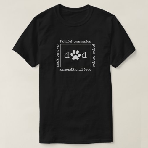 Dog Lover Dad Fathers Day T_Shirt