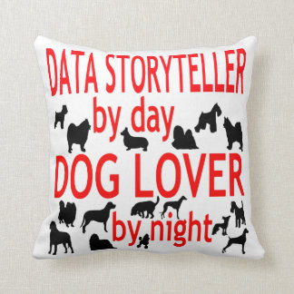 Dog Lover Data Storyteller Throw Pillow