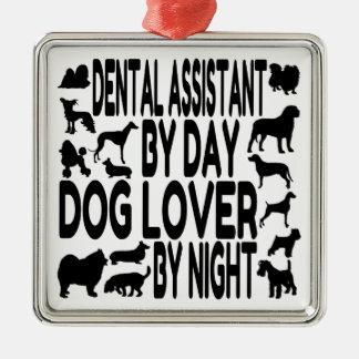Dog Lover Dental Assistant Metal Ornament