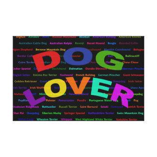 Dog Lover Dog Breeds Canvas Print