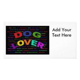 Dog Lover Dog Breeds Custom Photo Card