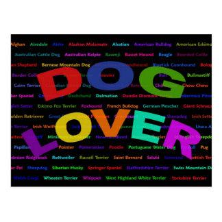 Dog Lover Dog Breeds Postcard