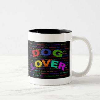 Dog Lover Dog Breeds Two-Tone Coffee Mug
