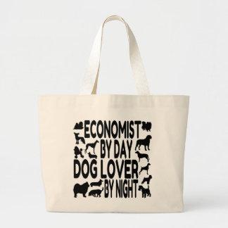 Dog Lover Economist Large Tote Bag