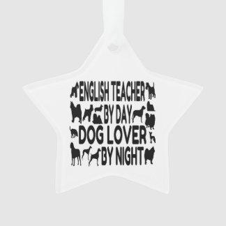 Dog Lover English Teacher Ornament