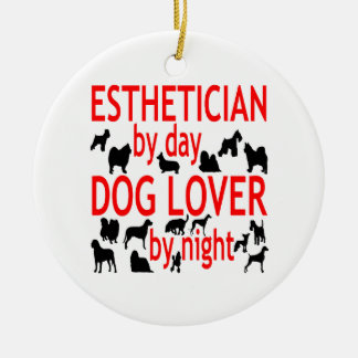 Dog Lover Esthetician in Red Christmas Ornaments
